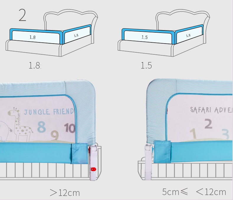 Poręcz Blokada Do łóżeczka Barierka Ochronna Do łóżeczka